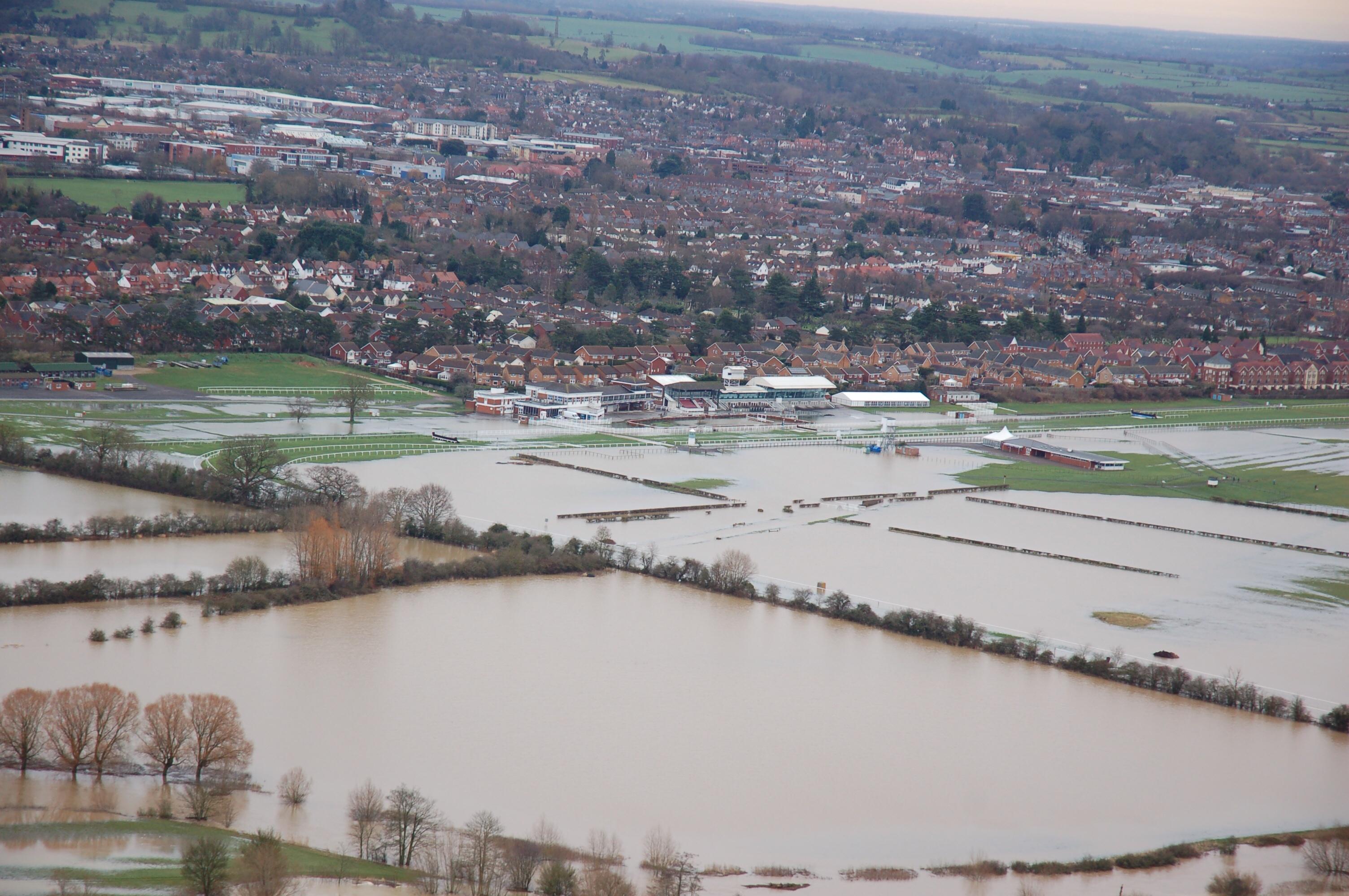 Stratford racecourse flooded