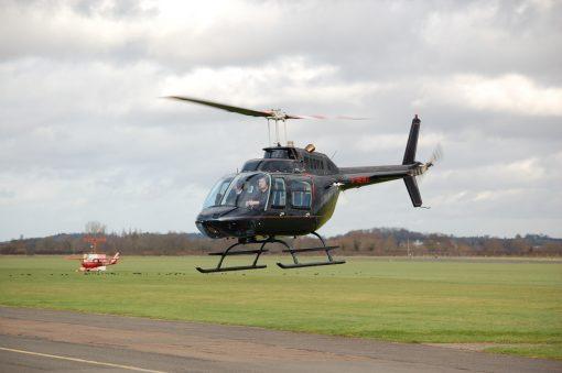 Black Helicopter hovering