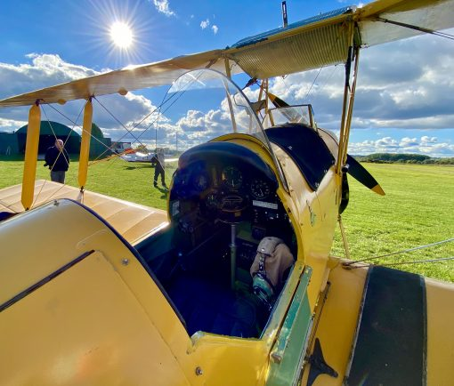 Inside Tiger Moth