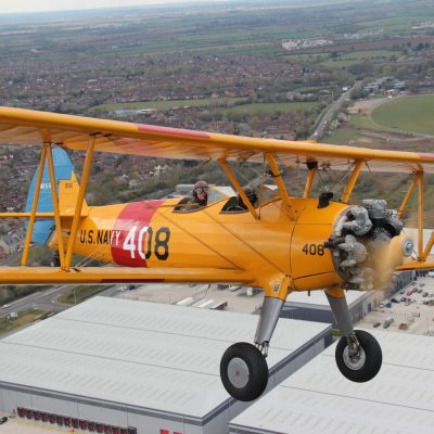 Boeing Stearman over Bicester