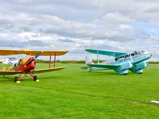 Tiger Moth and Dragon Rapide