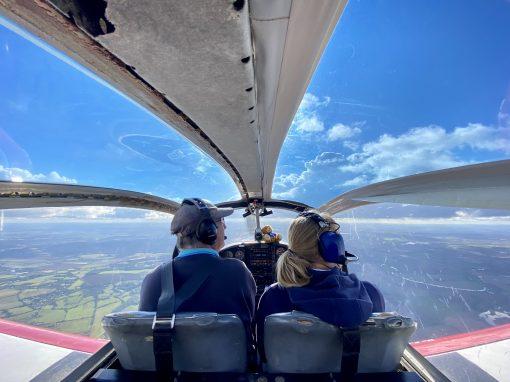 Pilot and passenger