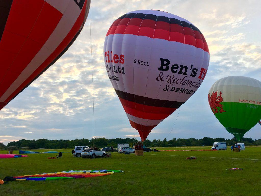 3 hot air balloons at 2019 Midlands Air Festival