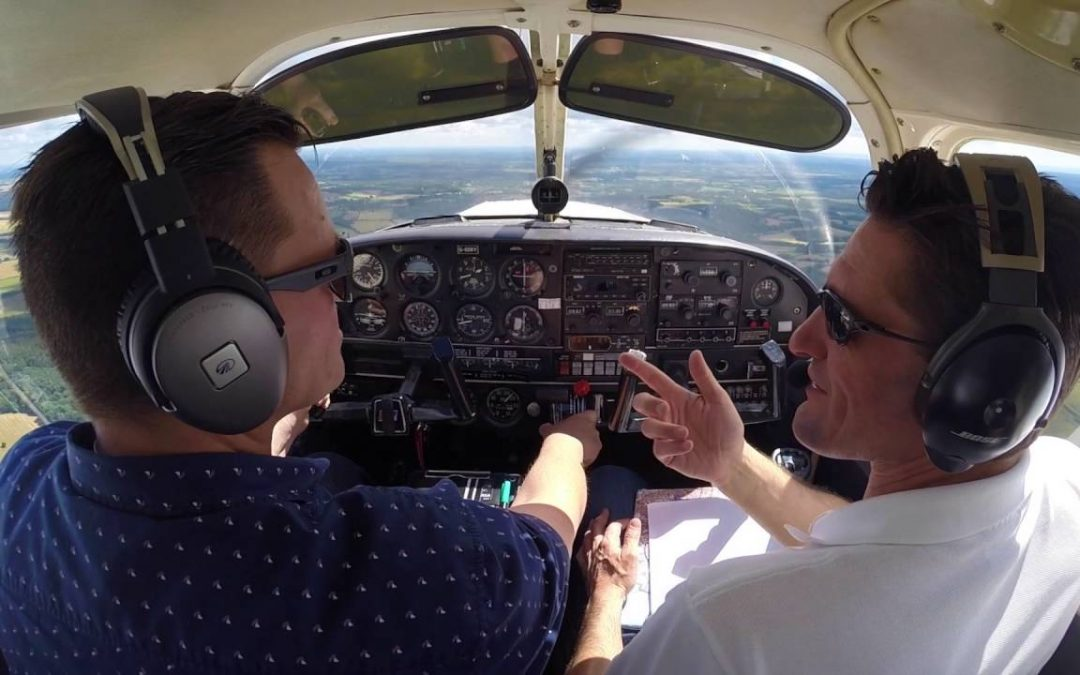 two pilots in aircraft