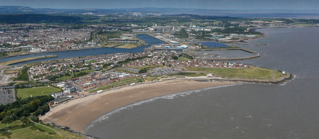 Aerial view of Barry Island, Wales