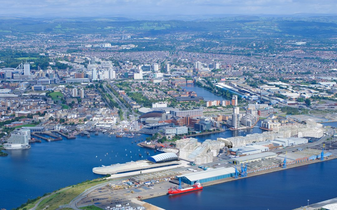 Cardiff Aerial view