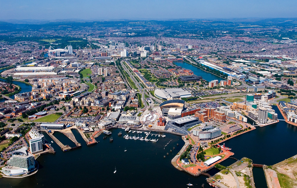 Cardiff Bay from above