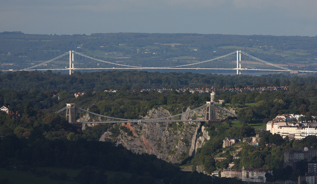 Clifton Suspension Bridge and Severn Bridge in the background