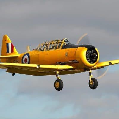 Yellow Harvard landing